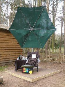 April bewilderwood platform umbrella