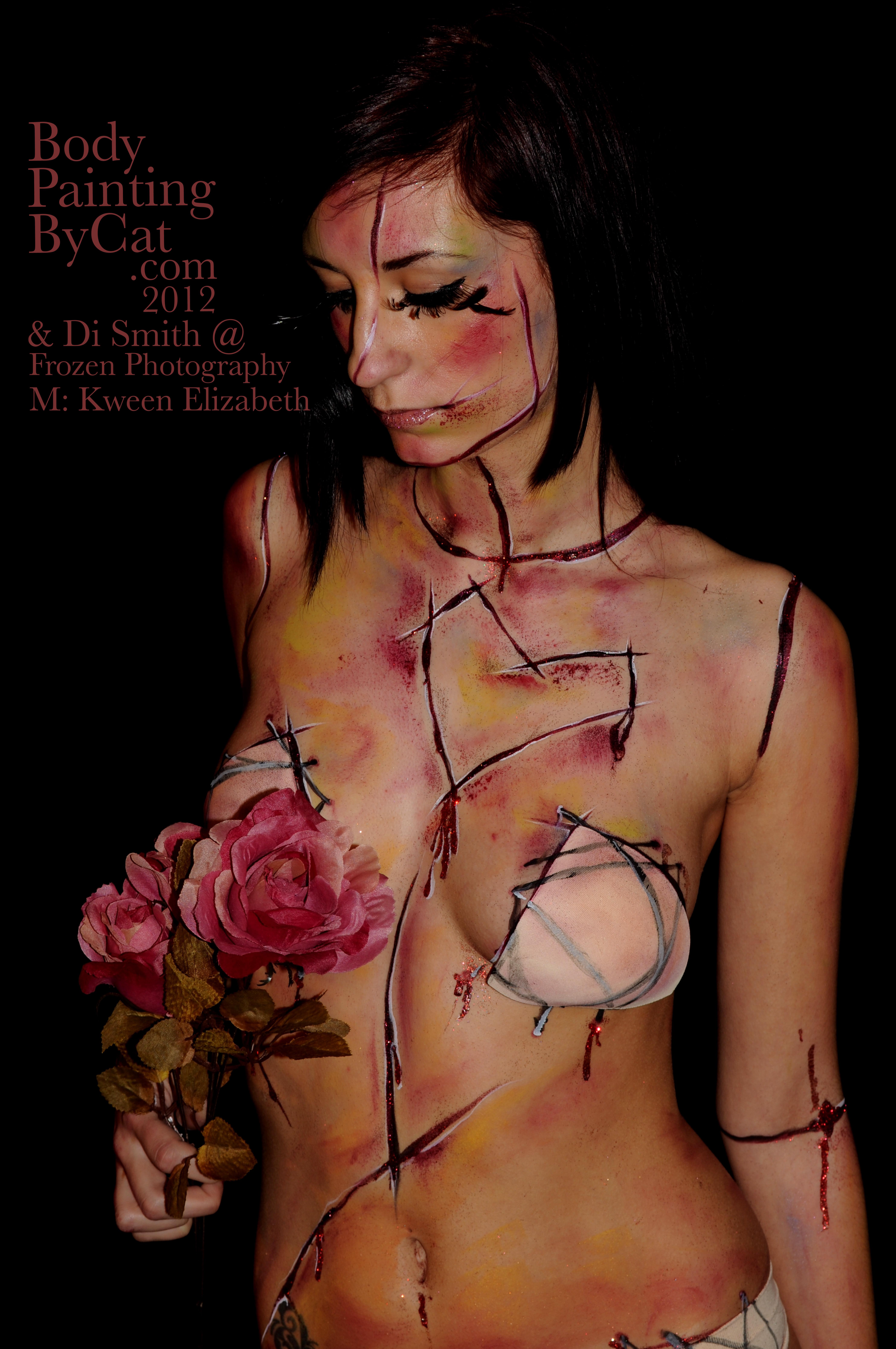 Light Skin Ebony Nude Model Photoshoot - Black Nude Light -8870