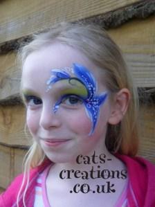 Blue iris eye 3 cc