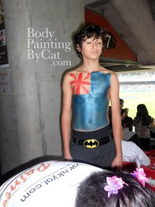 Cat paints NZ chest rugby 2 bpc
