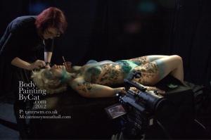 Catrin Cyborg paint n glitter lying down me bpc