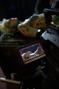 Catrin Cyborg paint n glitter welsh film 24 cam view bpc