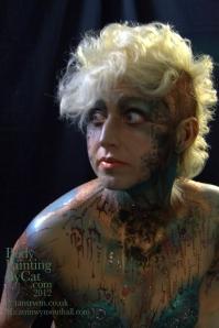 Catryn cyber steamp glitter body shoulder look bpc