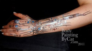 Cyborg glitter tatt close arm ed bpc