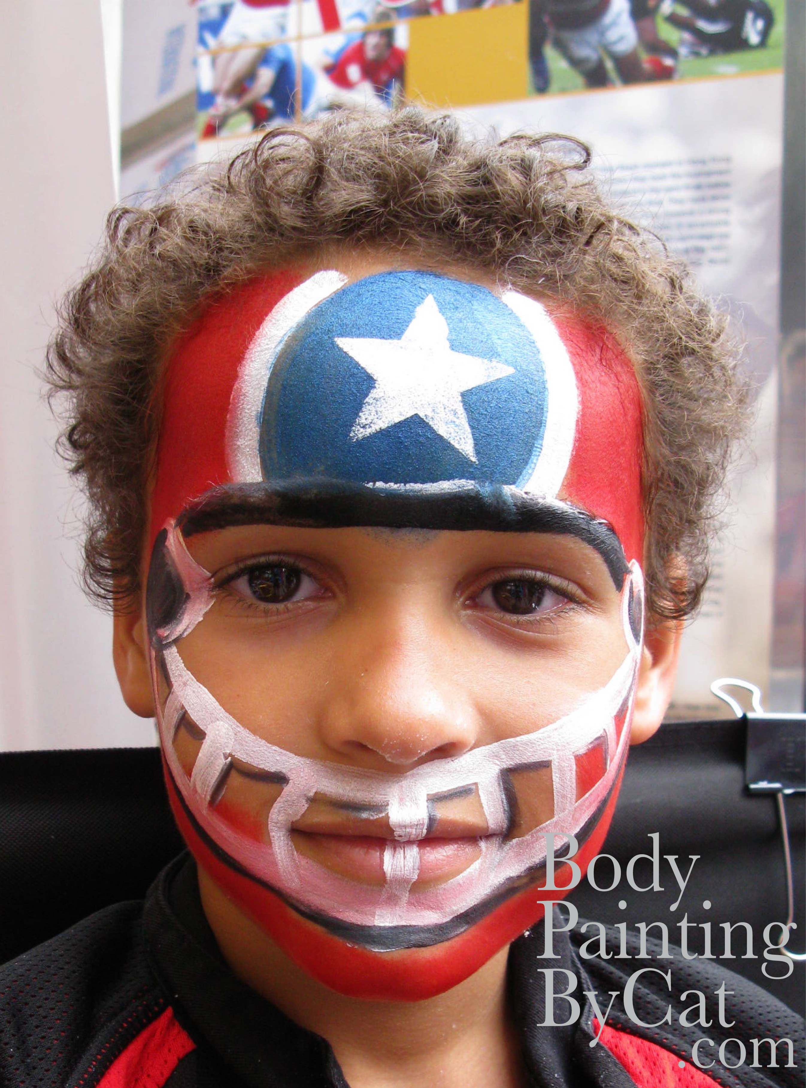 Football Helmet Face Paint Bpc Body Painting By Cat