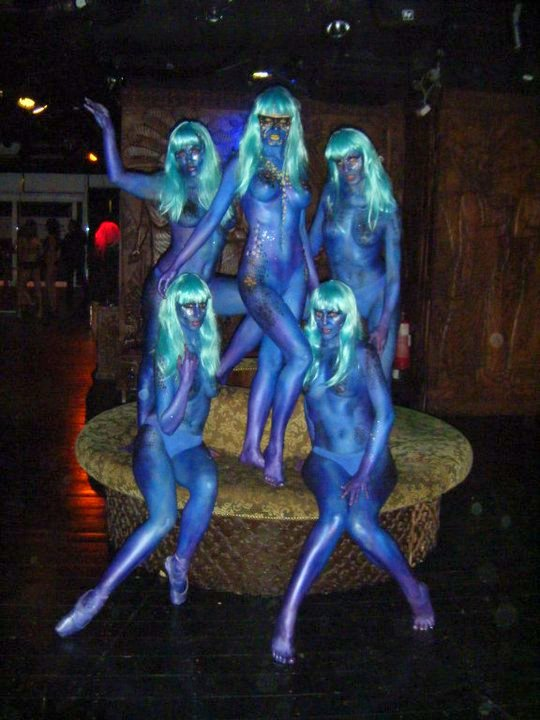 Gilgamesh Blue Body Group Body Painting By Cat