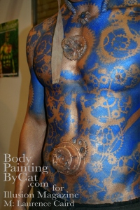 IMATS 2011 Illusion steampunk angel blue stencil  close bpc