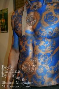IMATS 2011 Illusion steampunk angel blue stencil  close bpc