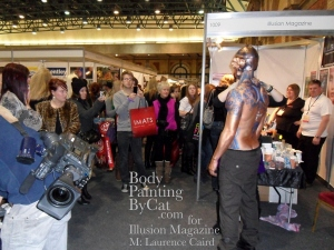 IMATS 2011 Illusion steampunk angel blue stencil vid bpc