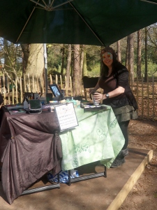 Jenns 1st Bewilderwood day  setting up