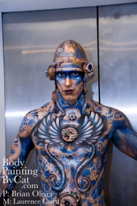 IMATS STeampunk Angel bodypaint lift