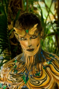 wood stayr bodypaint IMATS Illusion Mag