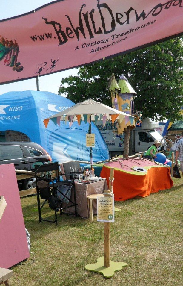 Norfolk Show Bewilderwood stand my set up