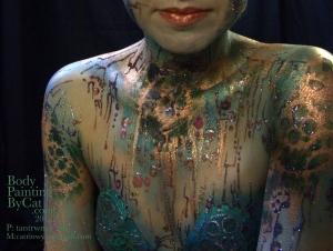 Steampunk Cyborg on Catrin S glitter n paint bpc