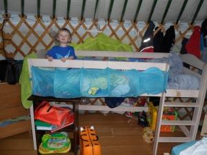 Yurt fins new bed