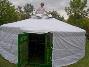 Yurt trials 5 main cover door