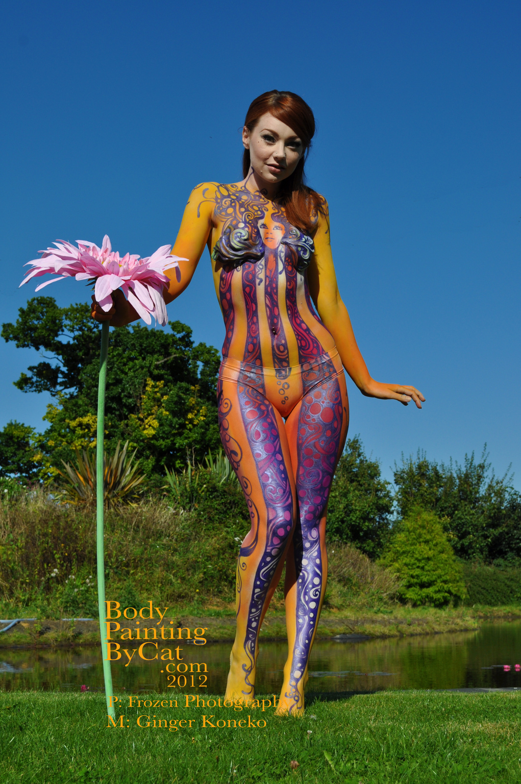 Hey Jude Psychedelia Body Paint Body Painting By Cat