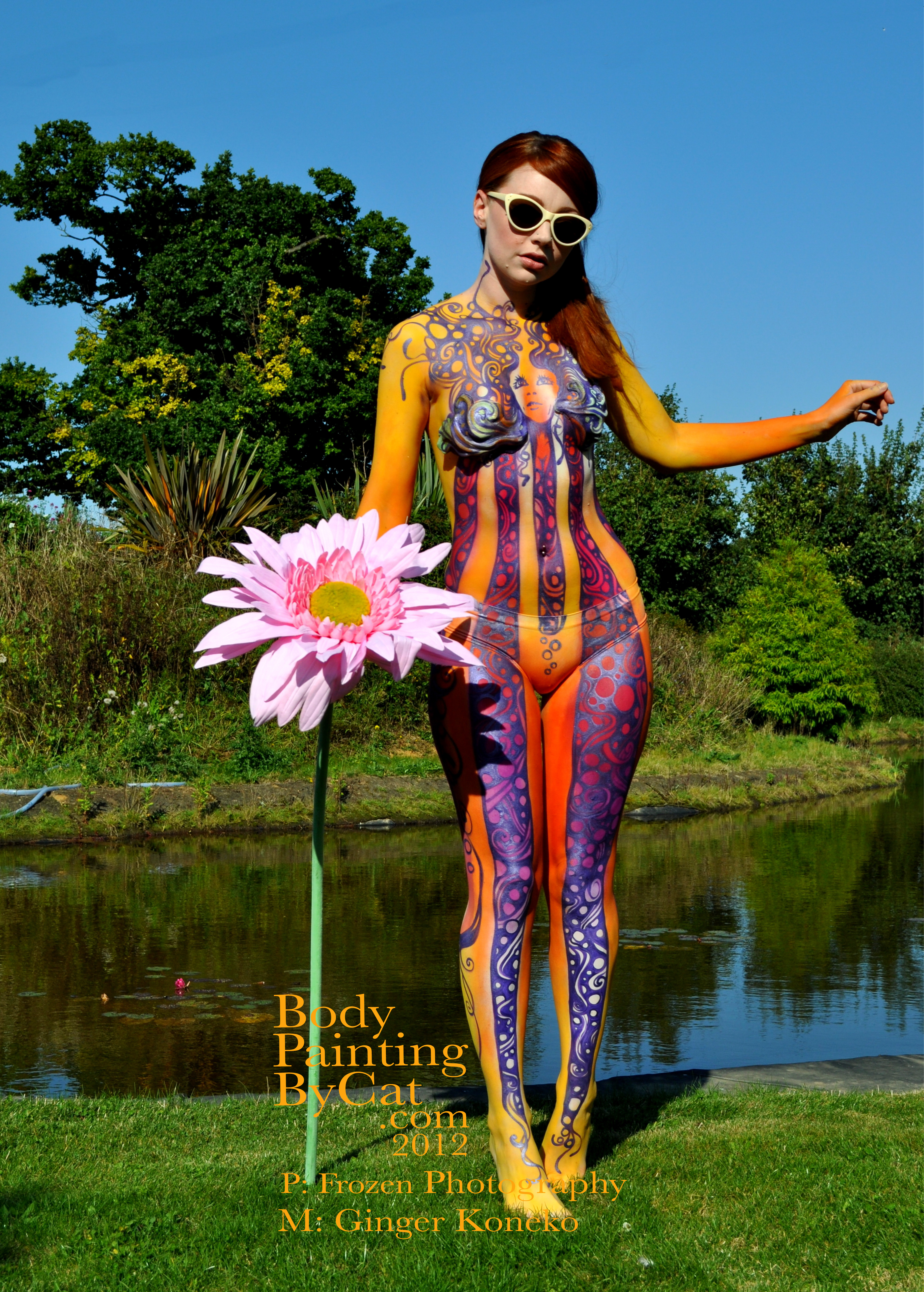 Hey Jude Sunies Flower Hold Bpc Body Painting By Cat