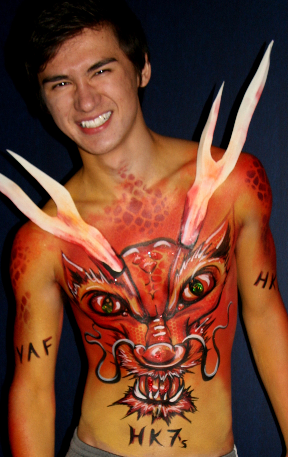 Face & Body Paint at Hong Kong Rugby 7s 2012 – Body