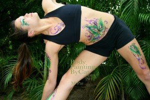 Pat Rocks Yoga glitter tatt side reach close bpc