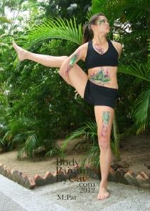 Pat Rocks Yoga glitter tatt stood bpc