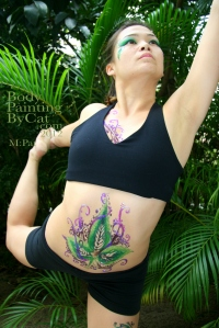Pat Rocks Yoga glitter tatt tum stretch bpc
