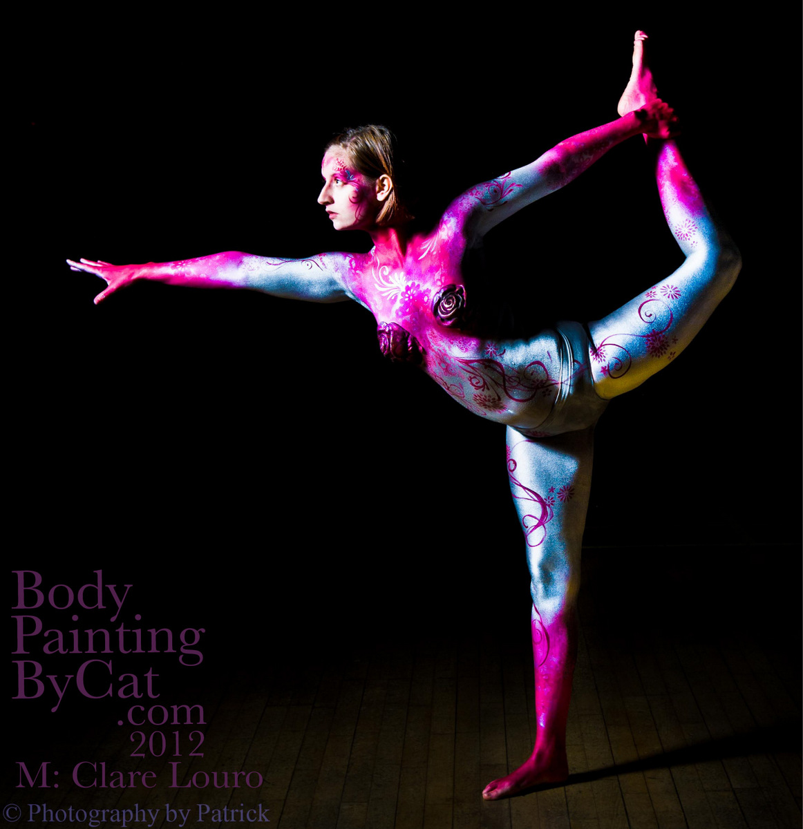 Bendy Claire Gymnast Body Paint Shoot Body Painting By Cat