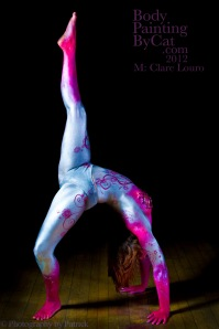 Clare Bridge gymnast bodypaint leg bpc