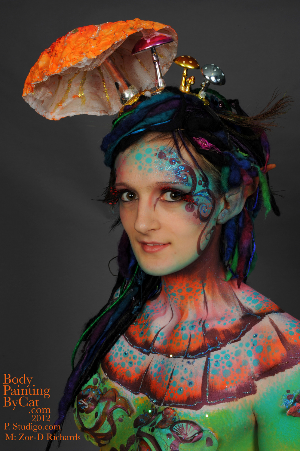 UK Face & Body Art Convention 2012 – Body Painting by Cat
