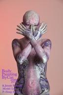 FAB Paintopia Alien torso cross hands pink bpc