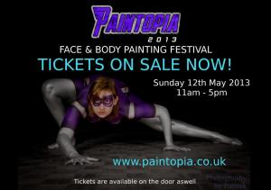 Paintopia girl tickets claire strecth 2013