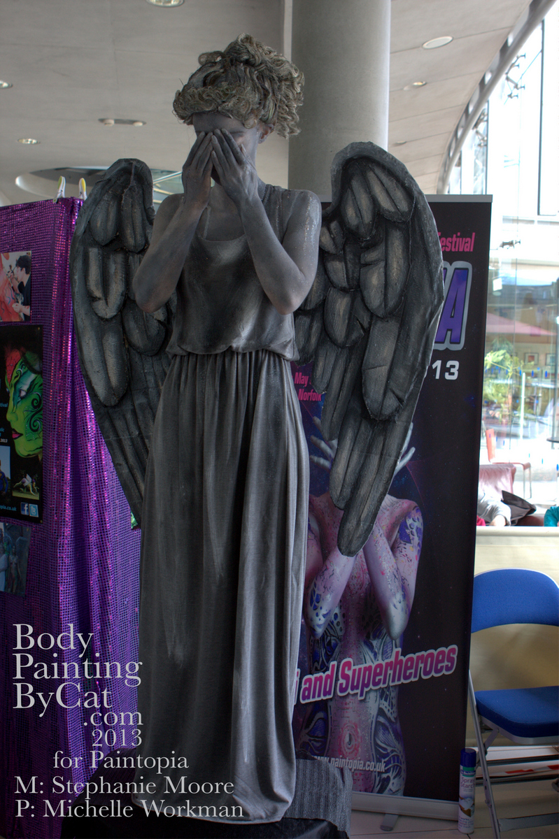 Weeping Angel Bodypaint Dr Who Forum Body Painting By Cat