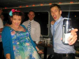 Cat LL Nic Petes wedding boat lager dance