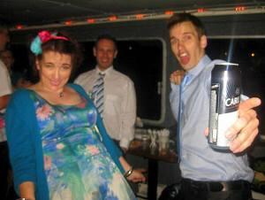 Cat LL Nic Petes wedding boat lager dance