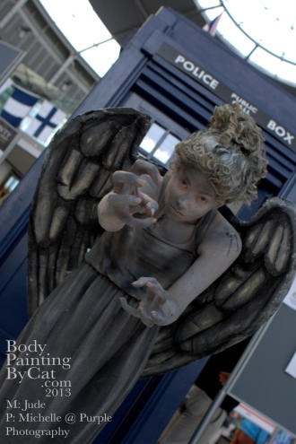 Dr Who rift bodypaint weeping angel tardis bpc
