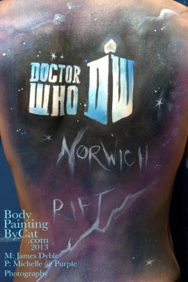 Dr Who rift Tenant bodypaint back 2 bpc