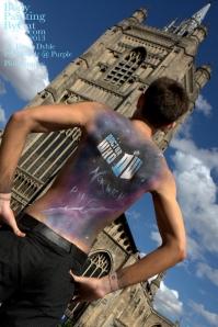 Dr Who rift Tenant bodypaint back hips bpc