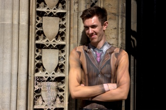 Dr Who rift Tenant bodypaint doorway bpc