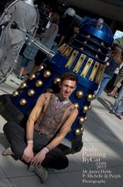 Dr Who rift Tenant bodypaint sat dalek bpc
