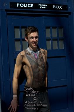Dr Who rift Tenant bodypaint tardis door BPC