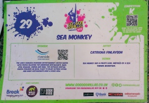 Fixing up gorillas sea monkey sign.48