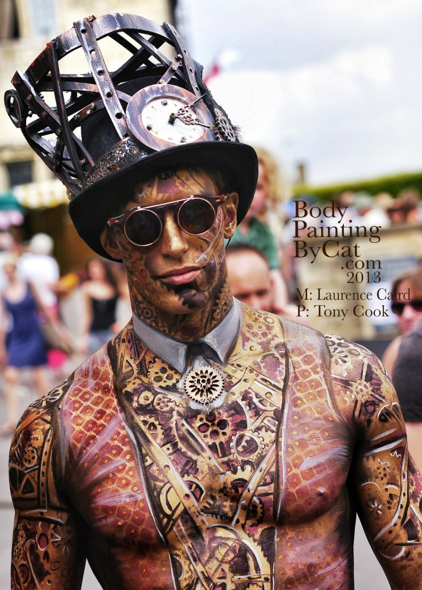 Painswick Art Couture Bodypaint Steampunk Victorian Magic