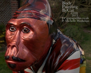 Seamonkey gorilla statue painted head shoulder bpc