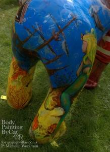 Seamonkey gorilla statue painted shipwreck bpc