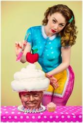 Paintopia vintage cupcake bodypaint shoot Cat Al
