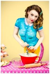Paintopia vintage cupcake bodypaint shoot Cat mix