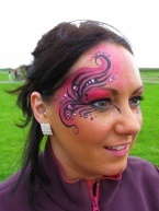 Pink tribal swirls side Welsh fest 08