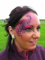 Pink tribal swirls side Welsh fest 08