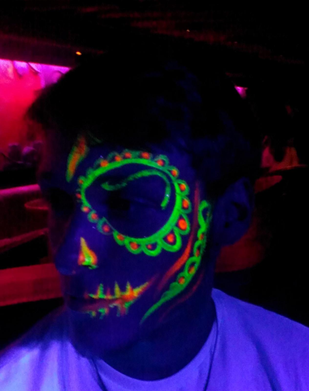 Uv Lolalos Sugar Skull Body Painting By Cat