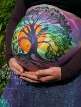 Gewn baby bump paint glitter tatto prenatal rowan hug bpc